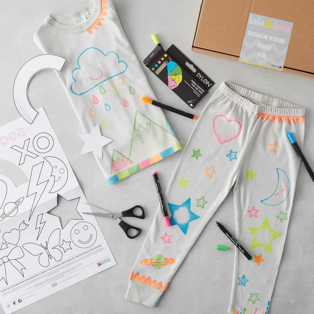 Design your own organic cotton pjs, £34