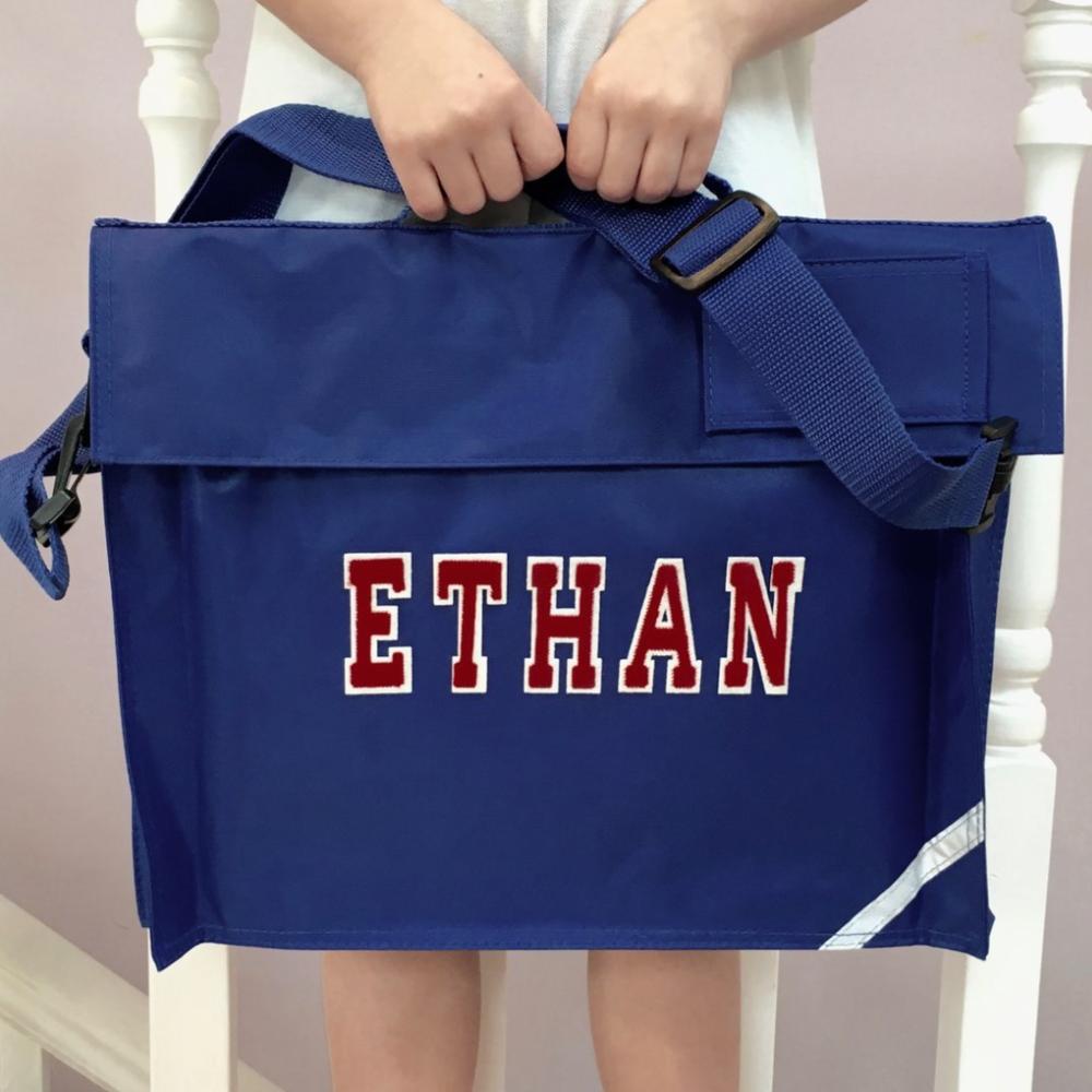 Personalised School Bag Varsity Name