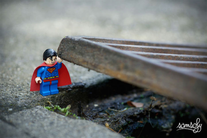 Vivid Content Marketing Lego Superman