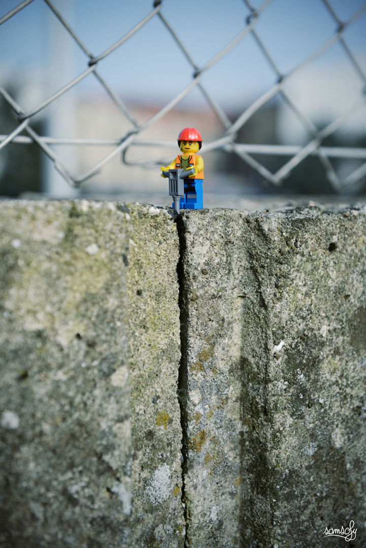 Vivid Content Marketing Lego drilling