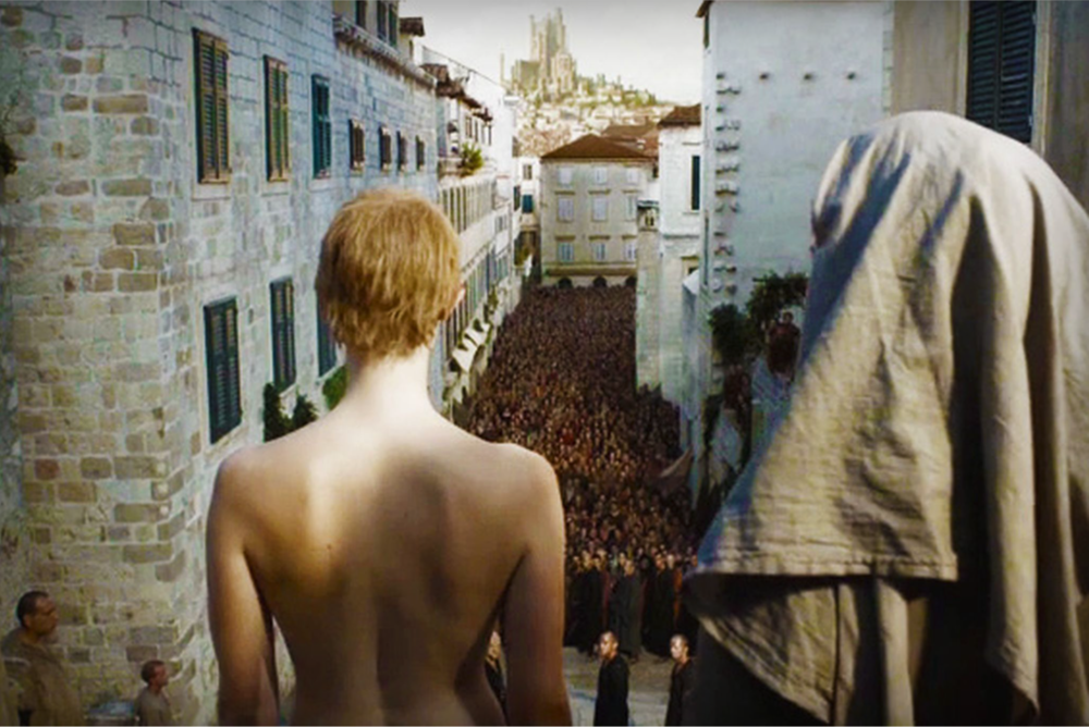 Game Of Thrones  The infamous 'walk of shame' scene spliced actress Lena Headey's head with a naked body double.