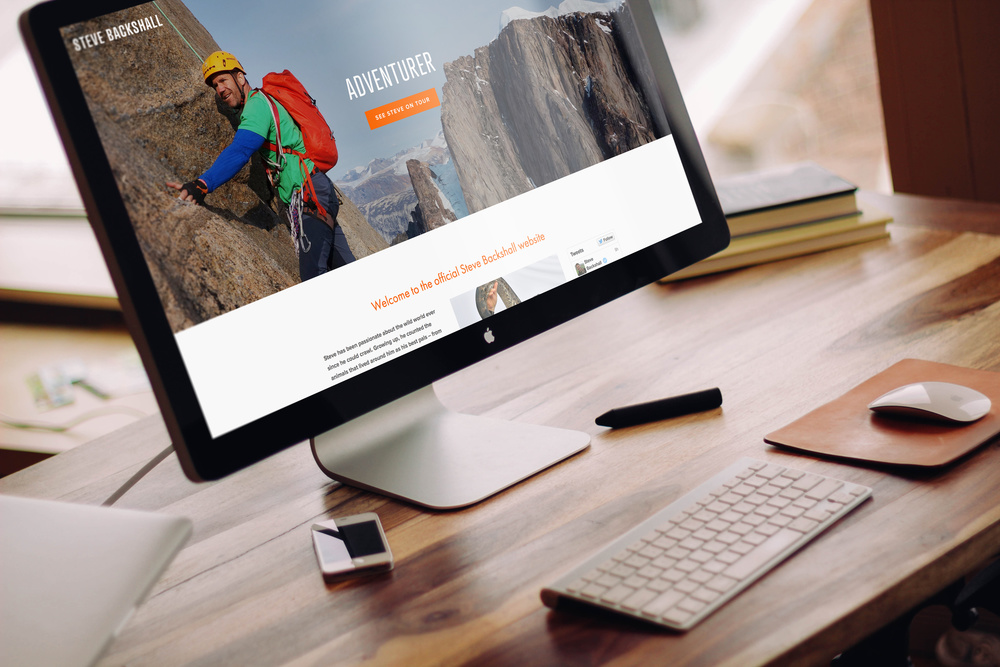 SteveBackshall.com  – the first of five current 'design, populate and build' Vivid website projects goes live.