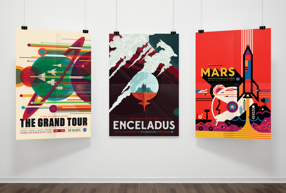 Vivid Content Marketing NASA space tourism poster1