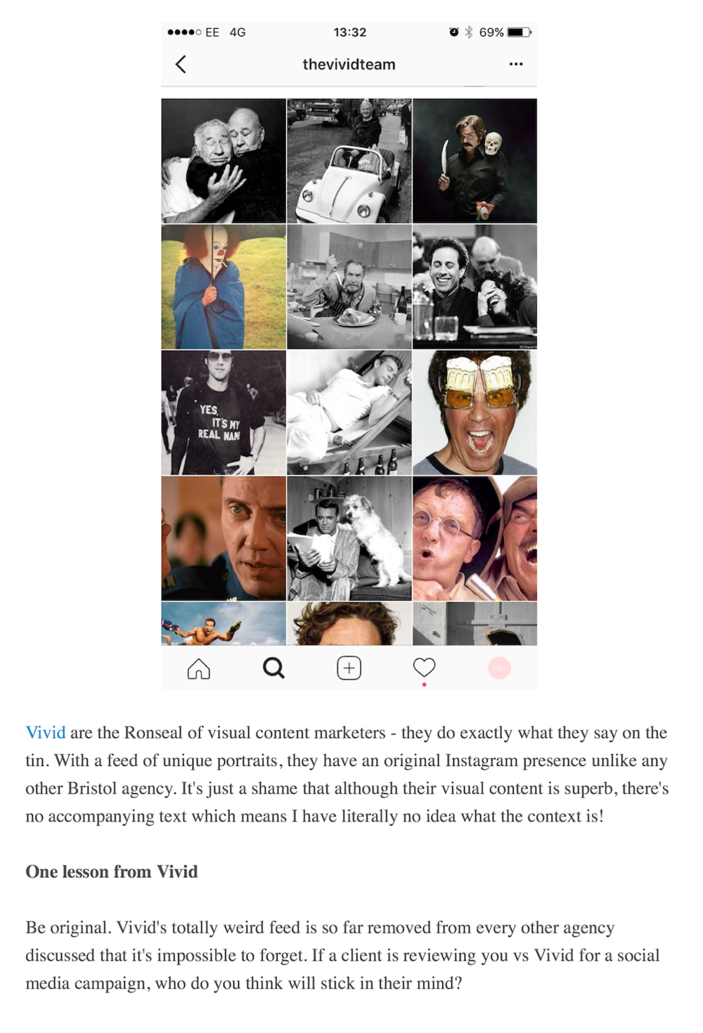Aime's lovely review of Vivid's Instagram feed. You can read the full article here.