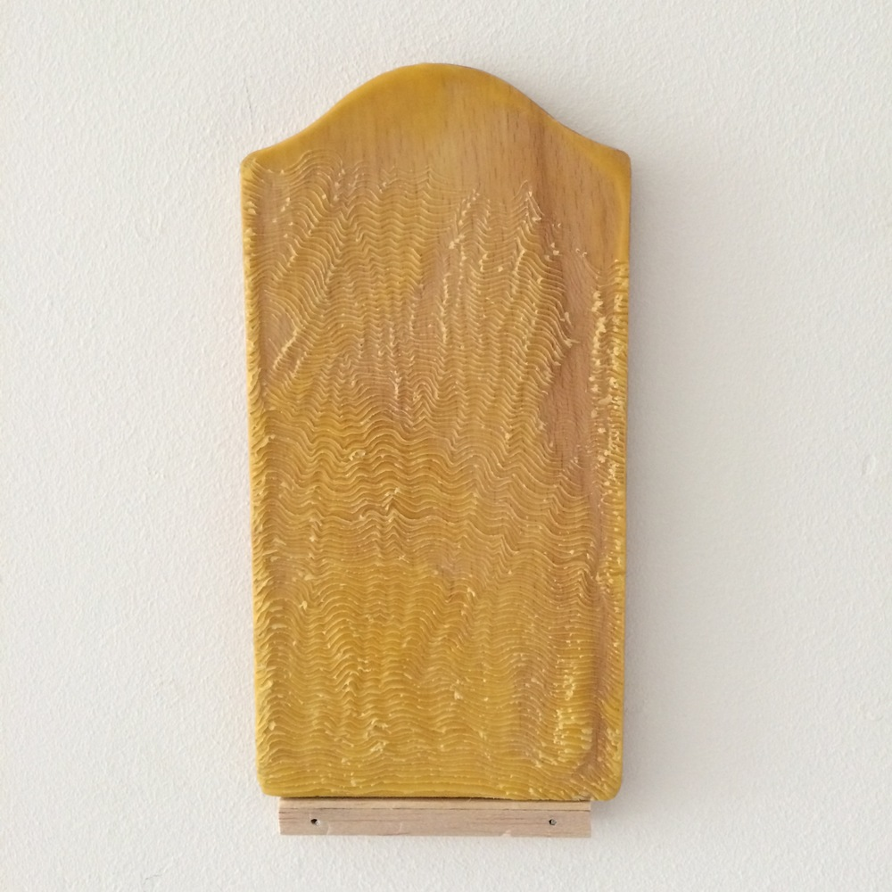 Altar, 2016, Beeswax, cutting board (wood).