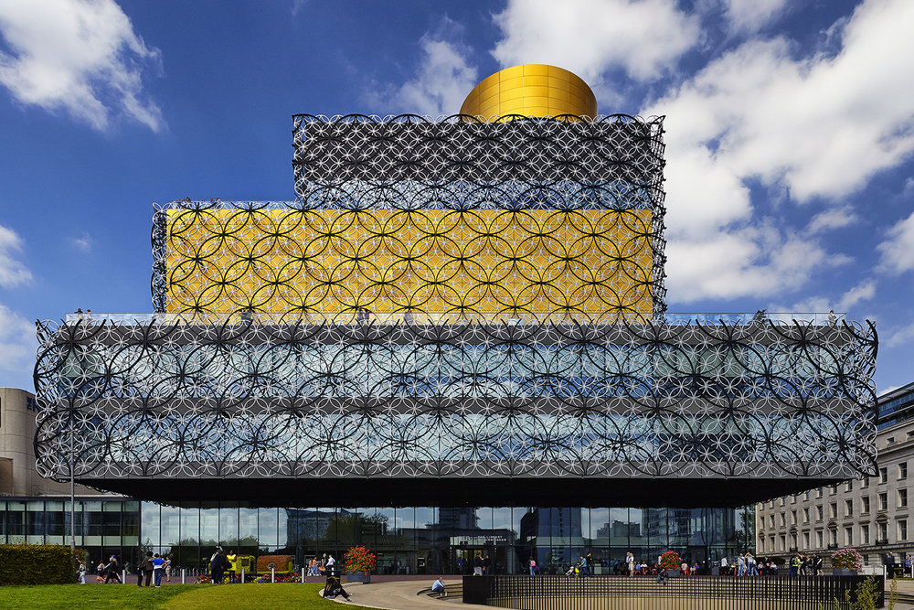 Architectural photography exterior: Library of Birmingham, Birmingham, Midlands, UK. Architect: Francine Houben @ Mecanoo architecten. Image (C) Matthewlingphotography.co.uk