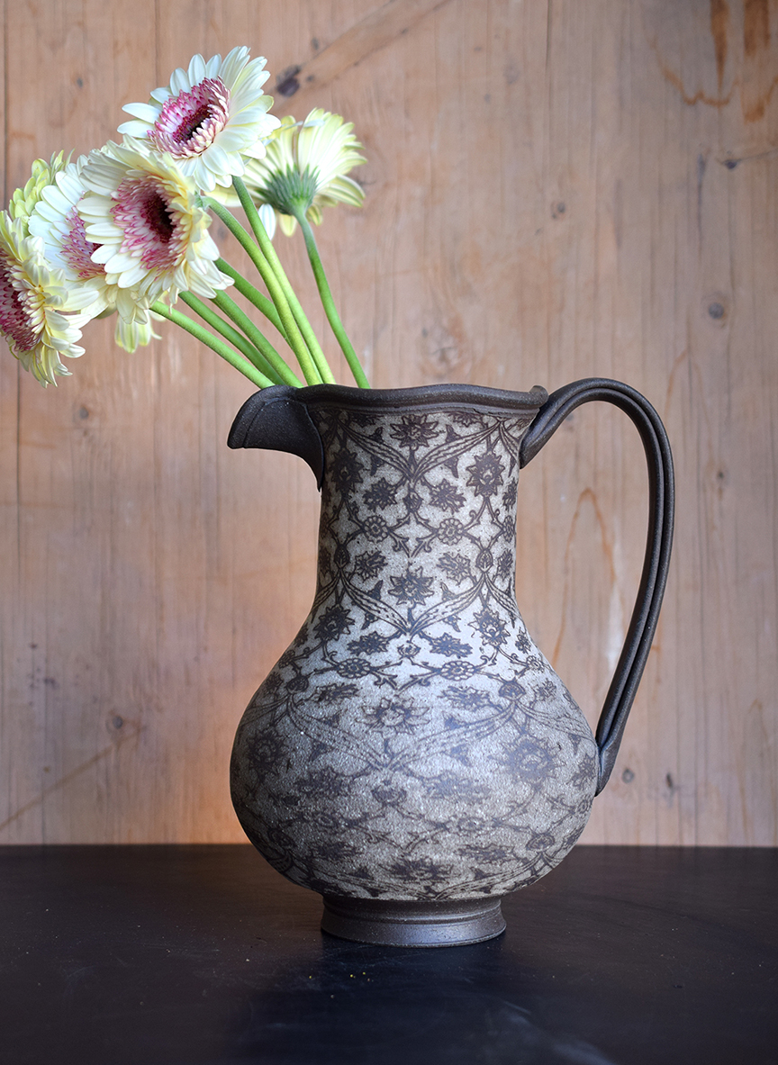 Pitcher with Iznik Pattern