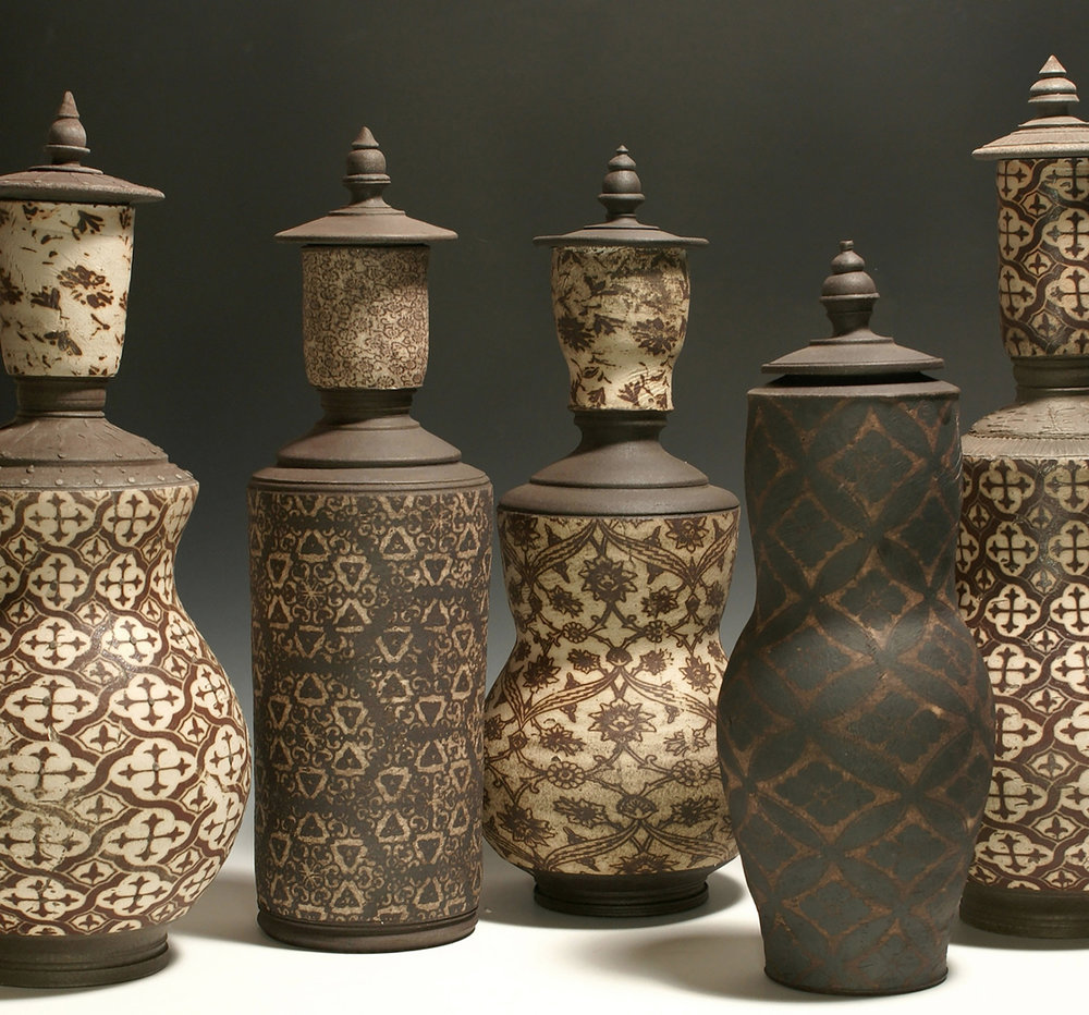 Minaret bottles with patterns