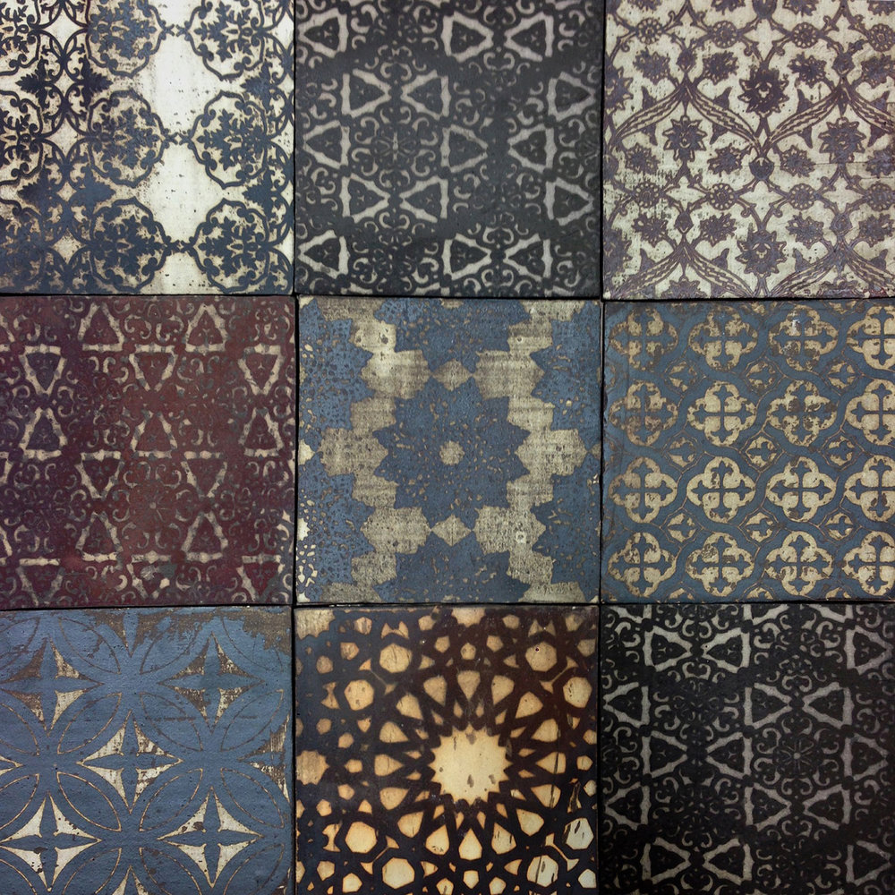Grid of Ceramic Tiles