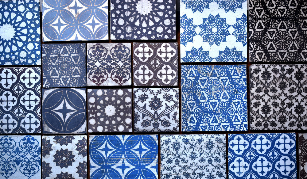 """Grid of 4"""" and 6"""" Variegated Pattern"""