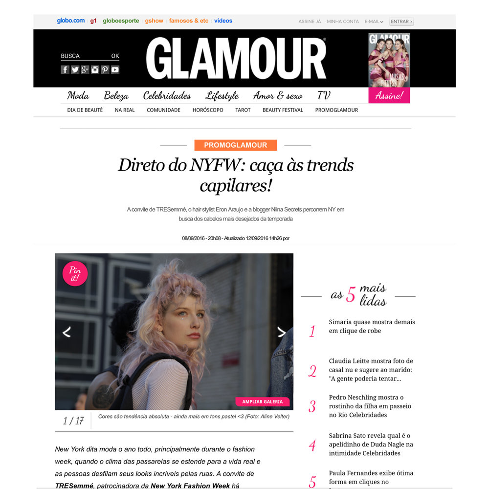 Glamour Brasil |  NYFW