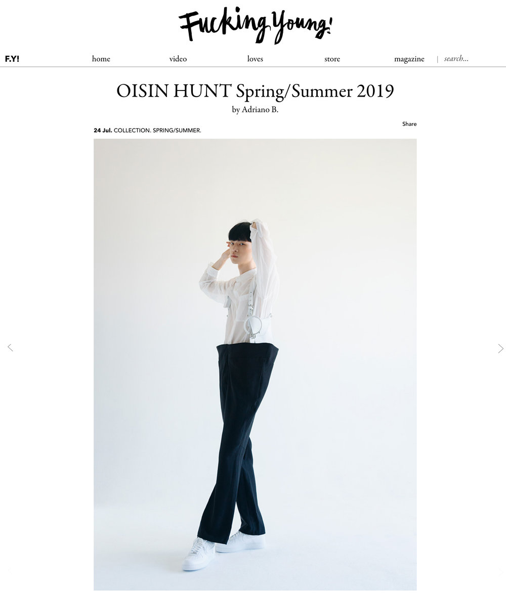 Fucking Young!  Oisín Hunt SS19