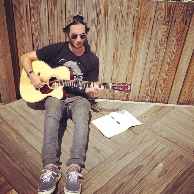 Beautiful day to write some tunes. #harrowsounds #newsong #rooftopsessions