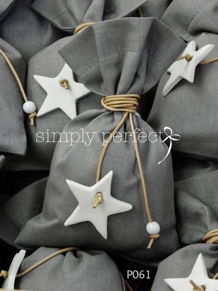 Μπομπονιέρα πουγκί με θέμα το αστέρι: ΚΩΔ Ρ061Α