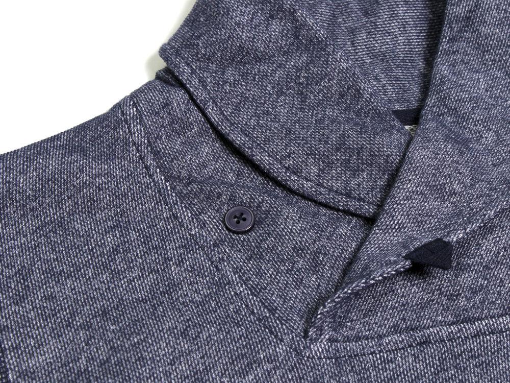Darwin Shawl Collar Pullover - Navy