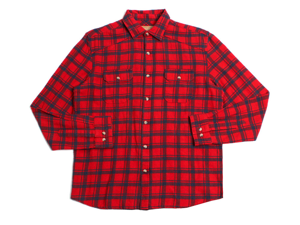 Anaglyph LS Button Up - Scarlet Sage/Navy