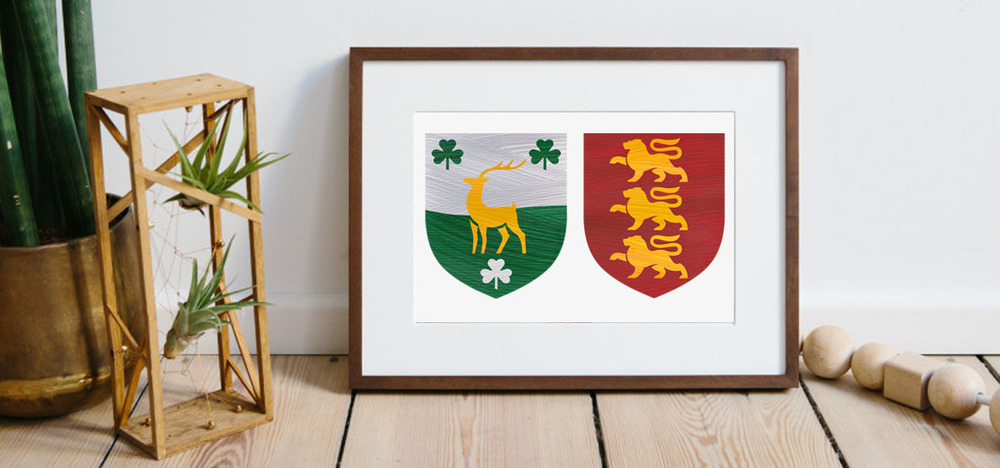 Hand-painted contemporary family crests - the perfect gift
