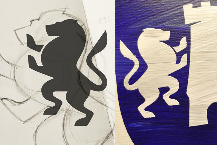 Unique family crests that are thoughtfully designed and hand-painted.