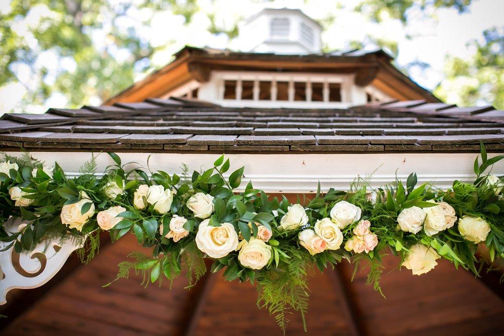 Wedding floral garland