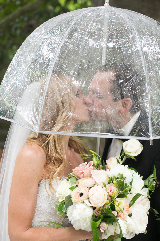 Rainy day wedding bouquet