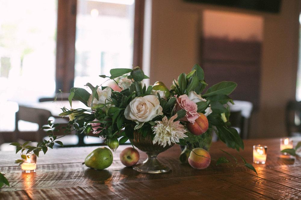 Reception floral arrangements