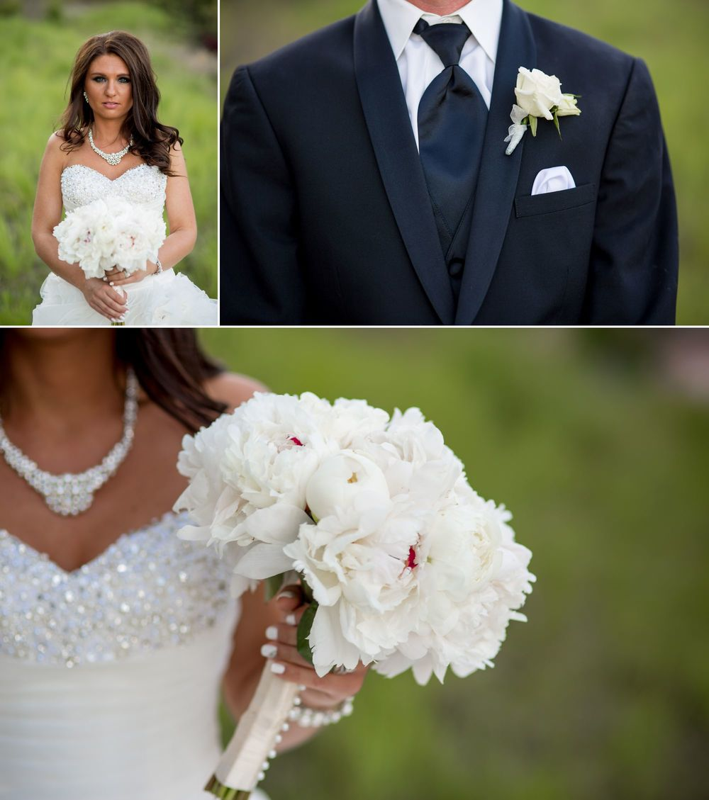 Stunning bride with her custom Amore Fiori bouquet