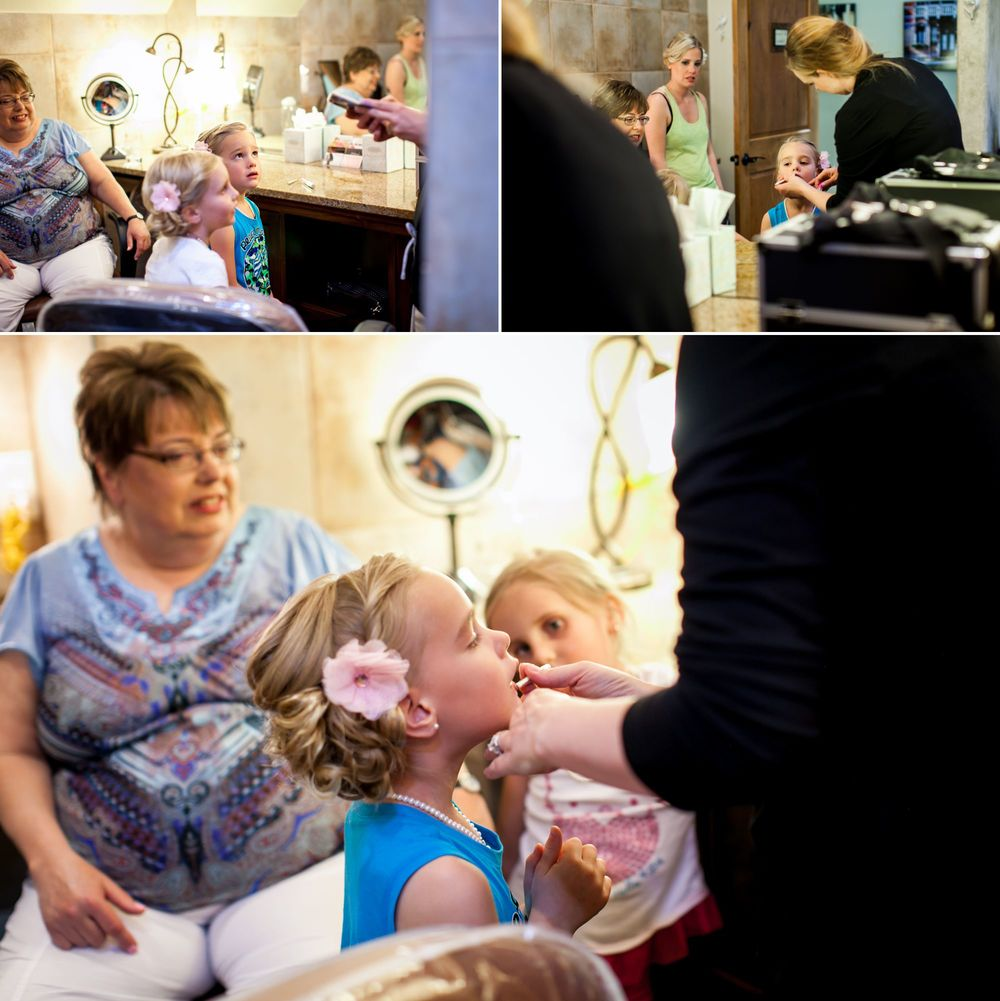 Bridesmaids gettingHair/Makeup touched with with  Aleigha Hans withCaptivate Beauty Services