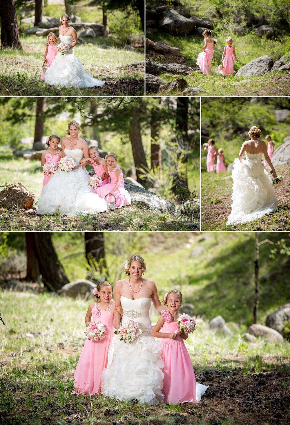 Bride with her little ladies!