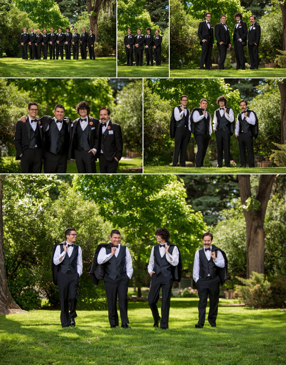 Grooms photos at Tapestry House