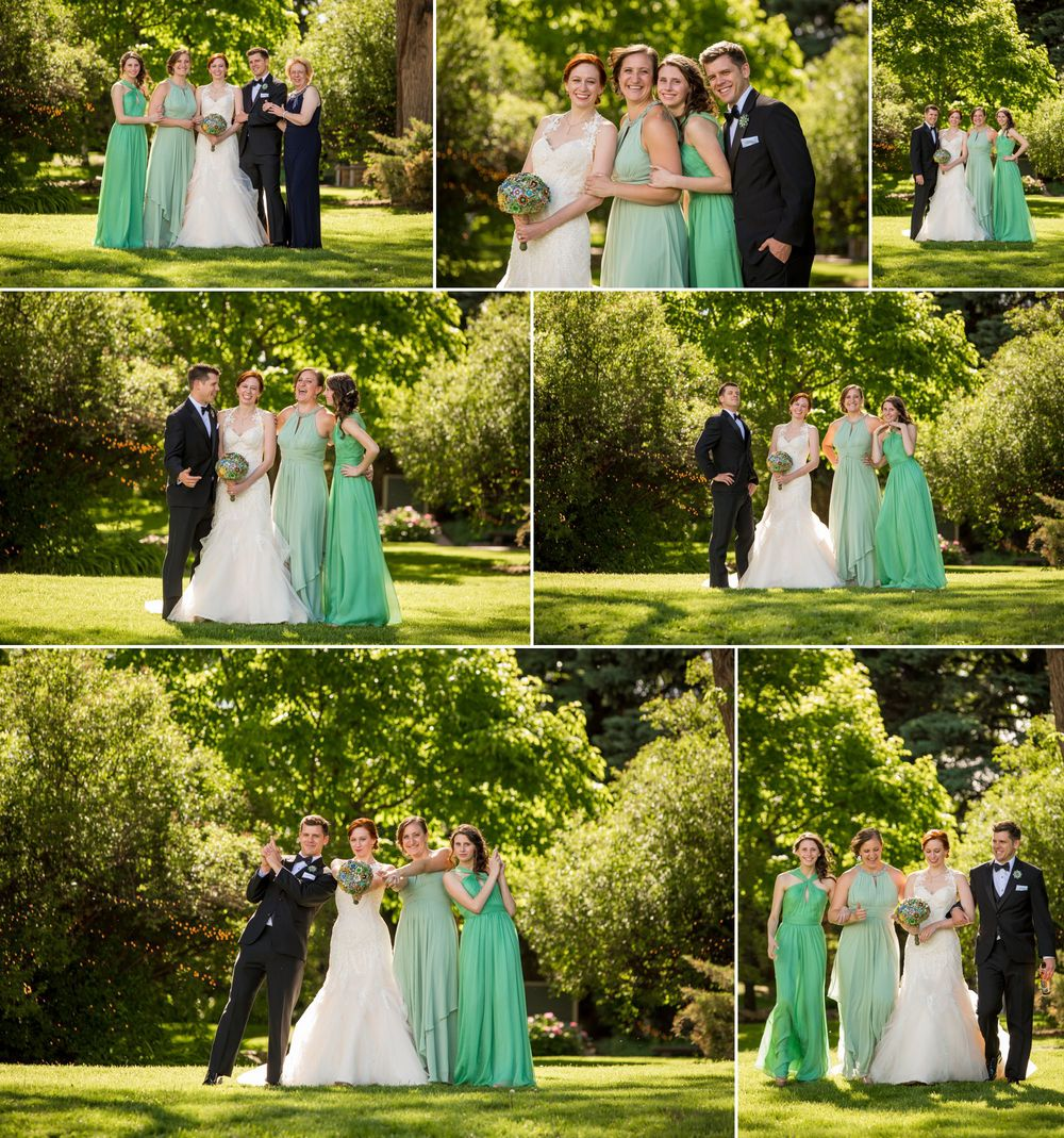 A bride and her closest friends!