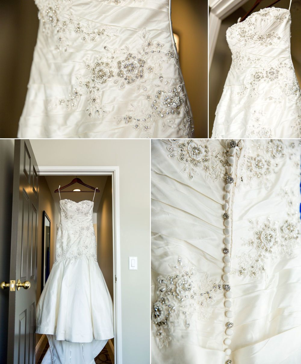 A gorgeous one of a kind Justin Alexander dress!