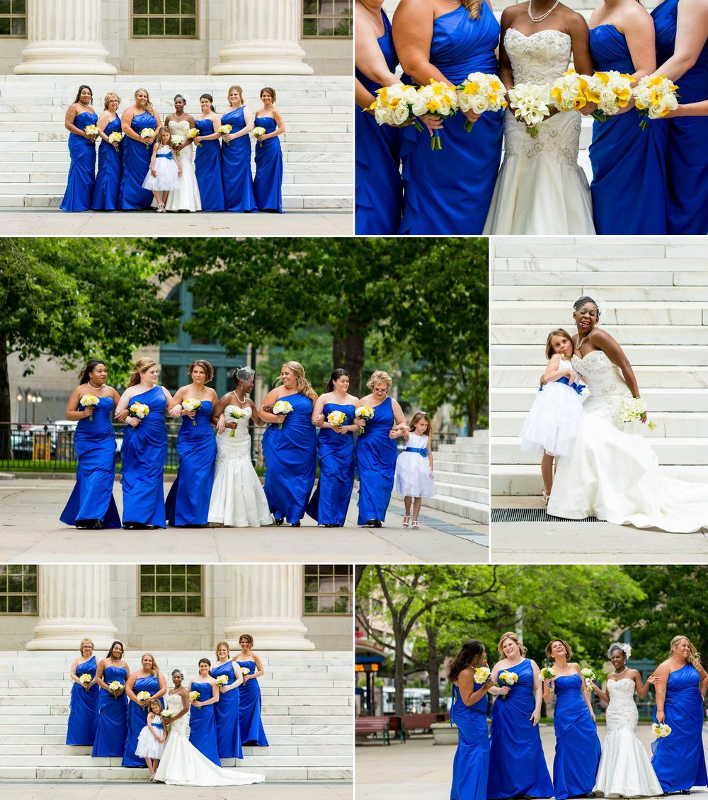A bride and her best friends!