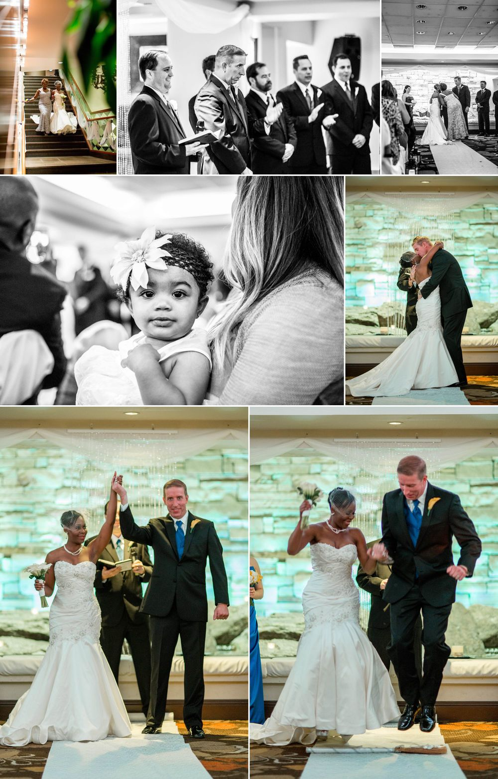 A perfect ceremony, wrapped up with jumping the broom!