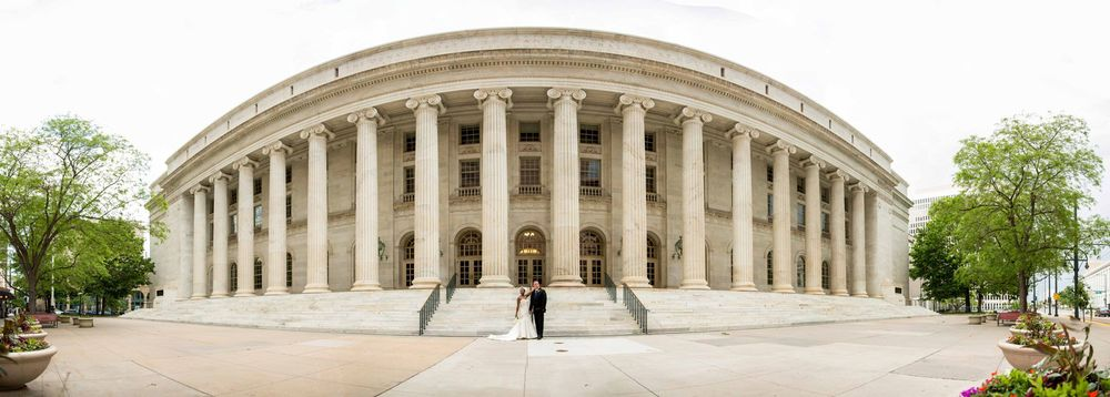 Byron White United Stats Courthouse in Downtown Denver was a great location for formals!