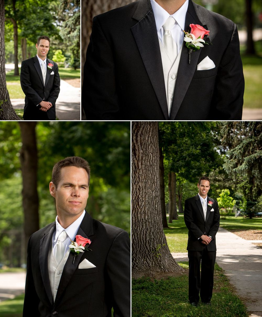 Handsome groom!