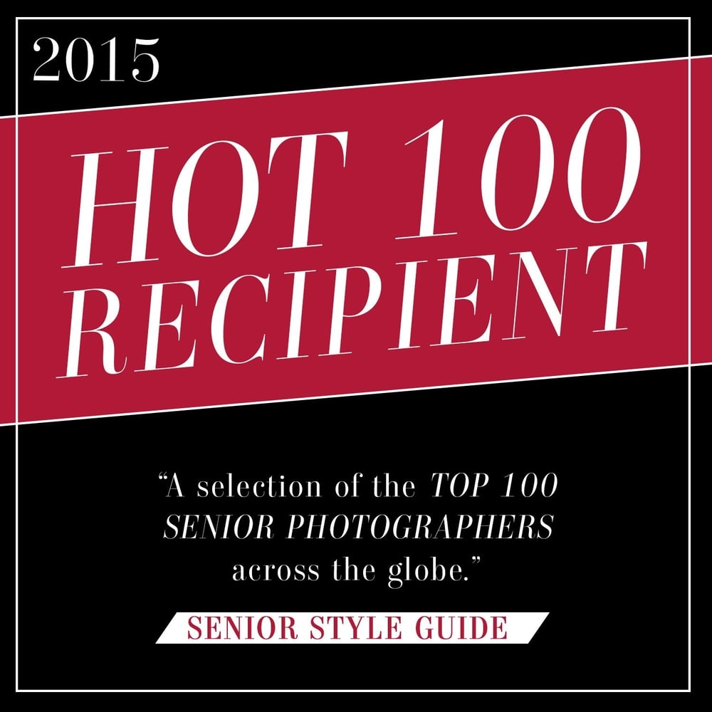 Top 100 Senior Photographers across the globe and took 1st place in OCF (Off Camera Flash) with Senior Style Guide.