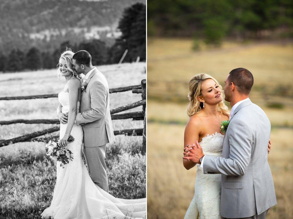 Wedding Portraits in Estes Park Colorado
