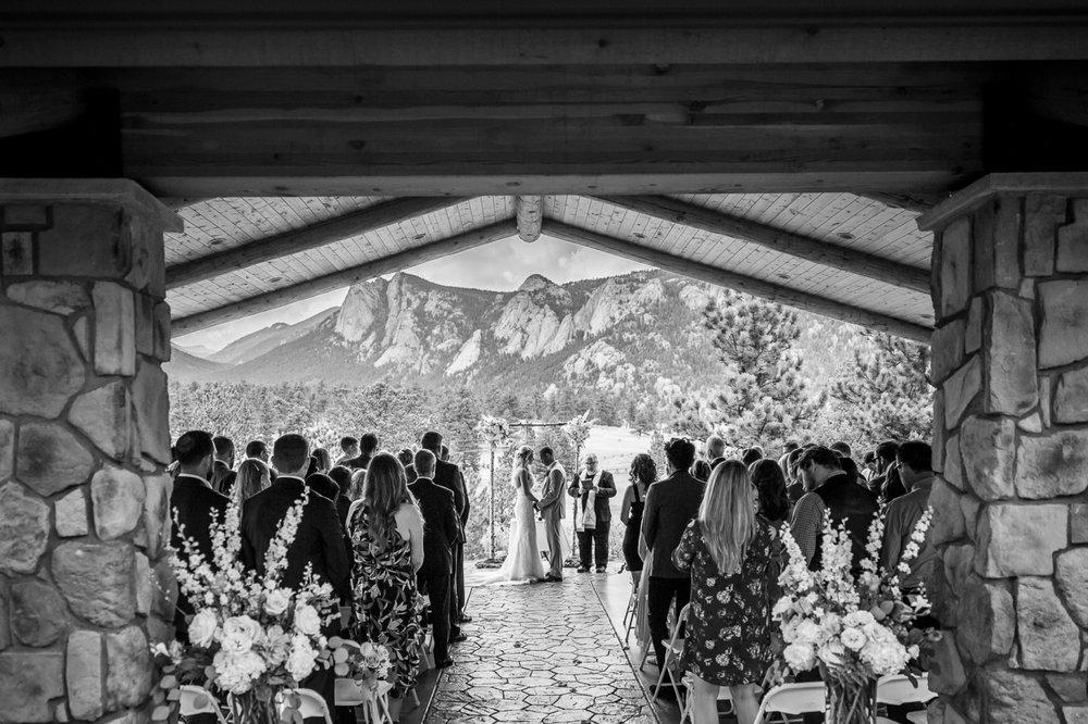 Ceremony at Black Canyon Inn, Estes Park Colorado
