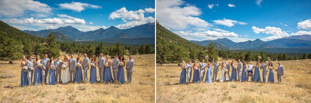 Wedding Party Photos in Rocky Mountain National Park