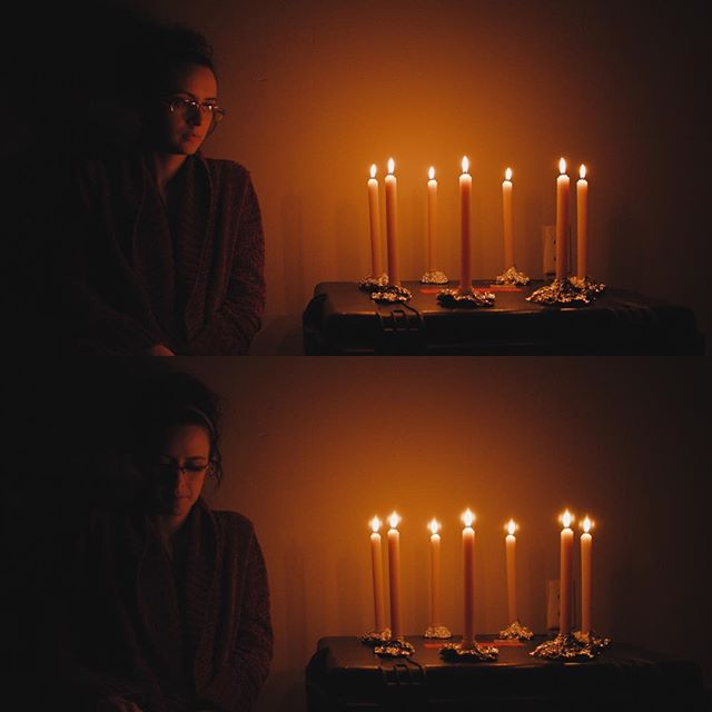 "Testing for a shoot coming up late this month where we will be lighting all interiors with candle light. This is straight out of URSA mini pro w/ a 21mm Cooke mini s4 @2.8, ISO 1600. Bottom frame added ""soft fx"" filter.....we need to more candles."