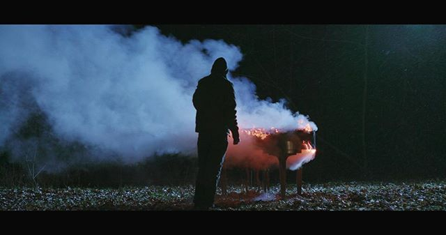 Screen grab from last nights craziness. Always great to have a family that consistently lets you shoot and occasionally set a piano on fire down in the woods😎 #directorofphotography #ursaminipro  #supertakumar