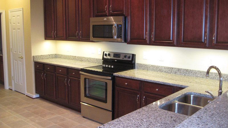 Glass-Top Stove, Granite Countertops