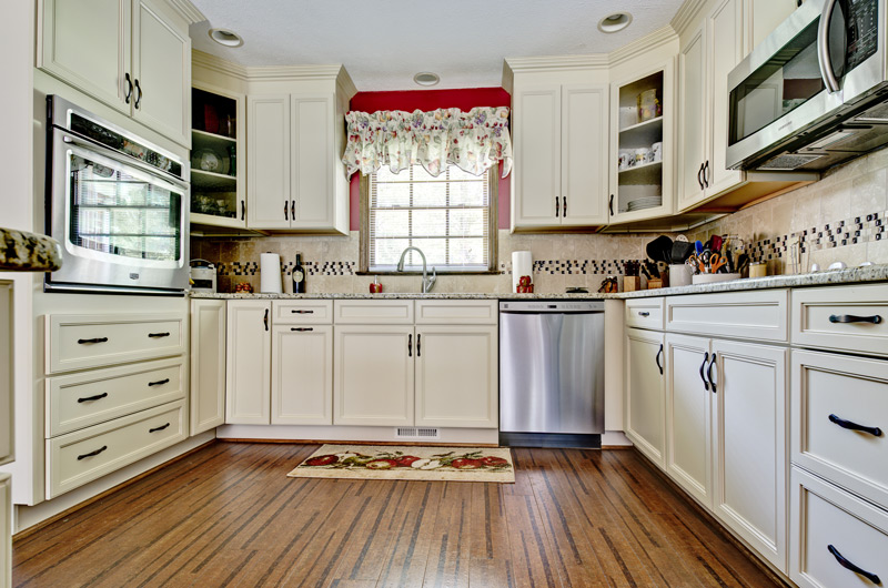 Hardwood Floors, Kitchen Remodel, White Kitchen Cabinets