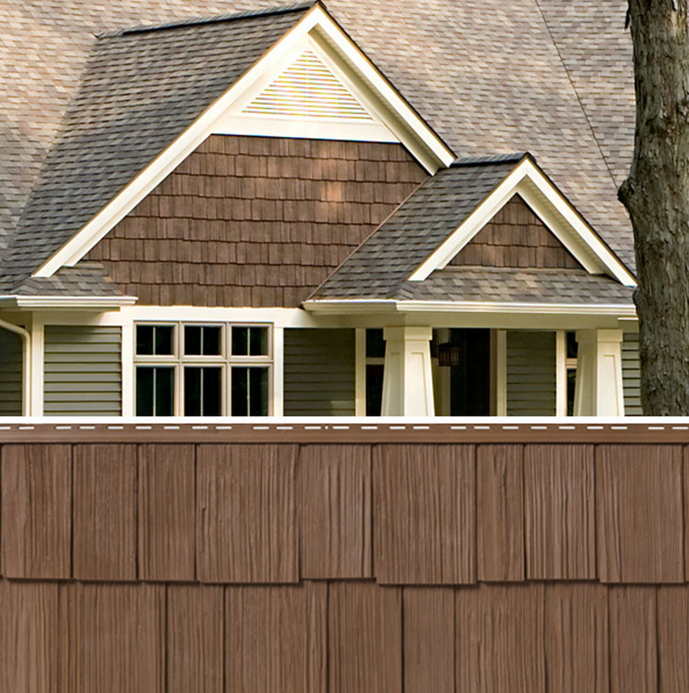 Brown Shingle Siding