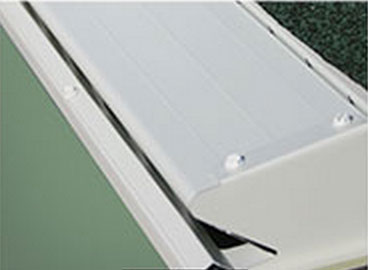 White gutter guard