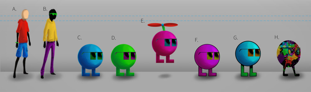 Character Variations to help refine down the game's style and playable characters.