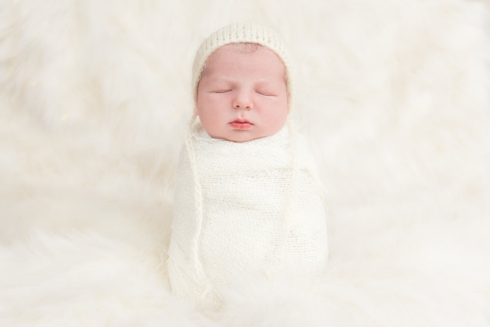 Newborn Baby Boy Potato Sack Pose