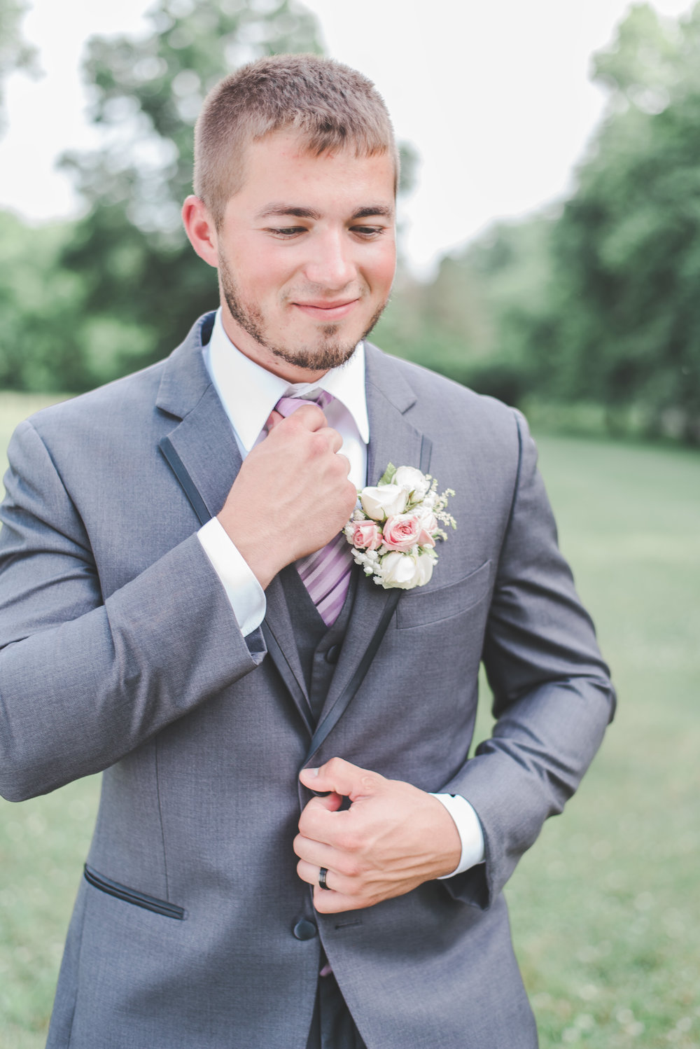 Groom Fixing Tie