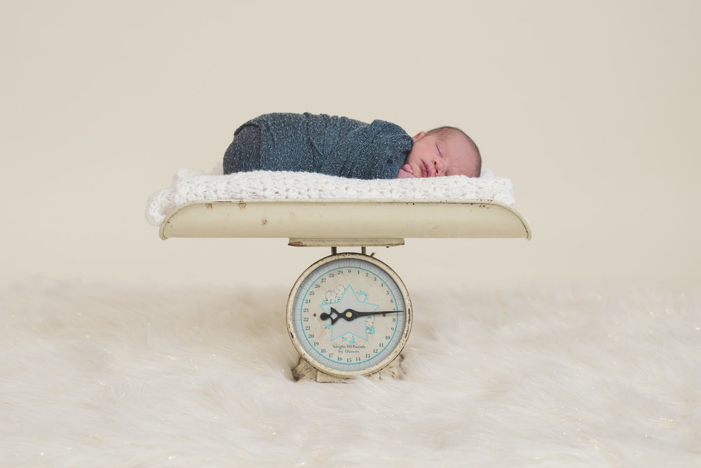 Newborn Boy Photo Prop Scale
