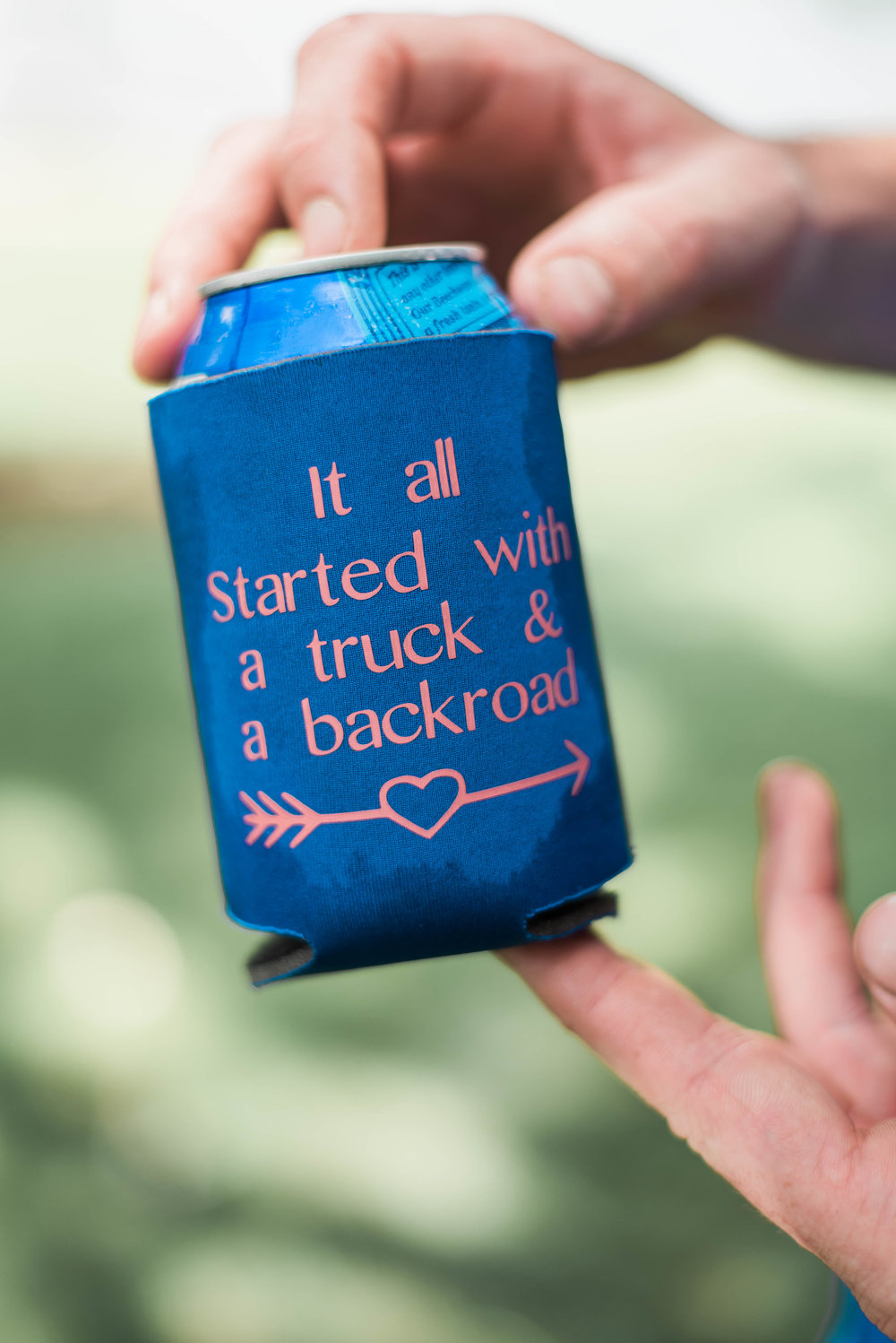 wedding coozie